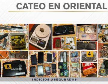 Operativo en Oriental, Puebla  deja tres detenidos y decomiso de  drogas y armas