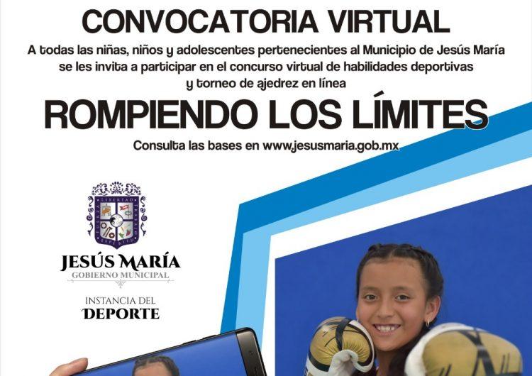 Invita el gobierno de Jesús María al torneo deportivo virtual