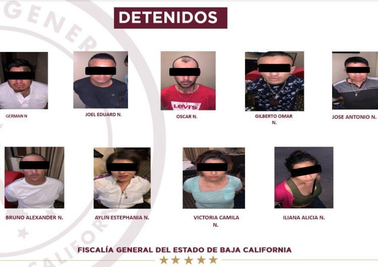 FGE y FBI capturan a miembros de banda delictiva en Tijuana y California