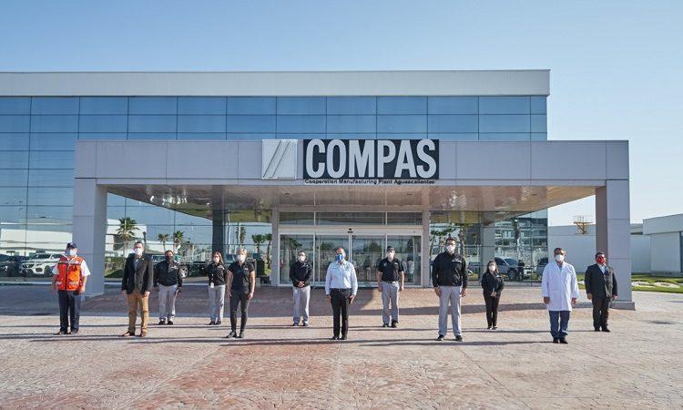 Supervisa gobernador de Aguascalientes protocolos sanitarios en COMPAS