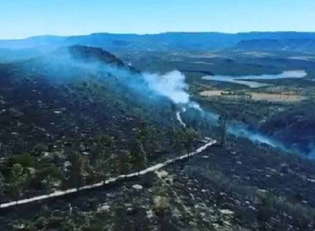 A un 80% de avance mitigación de incendio en Villanueva, Zacatecas