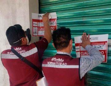 Clausura Normatividad de la ciudad de Puebla seis establecimientos por incumplir decreto