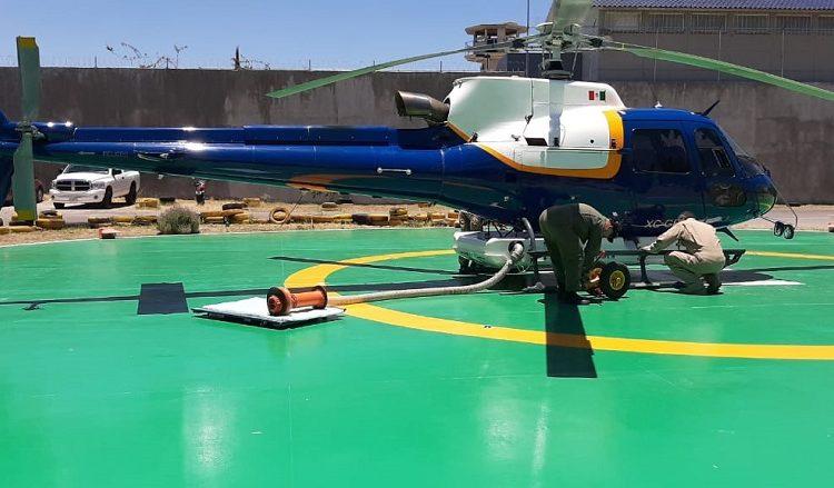 Apoyará helicóptero de la SSPE en sofocación de incendio forestal en Zacatecas