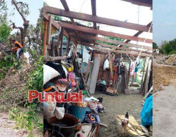 Fuerte granizada perfora techos y la lluvia genera deslaves en Pantepec, Puebla