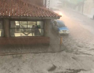 Lluvia y granizada afecta a Tehuacán