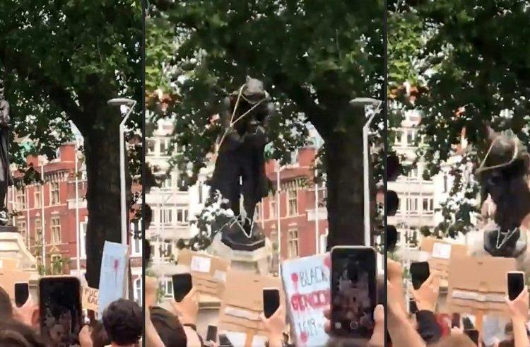 La ola antirracista impulsa el derribo de estatuas de esclavistas y confederados