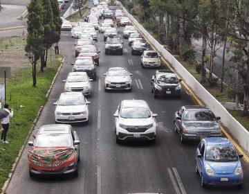 Caravana del Frente Nacional Anti-AMLO se manifiesta por visita a Puebla