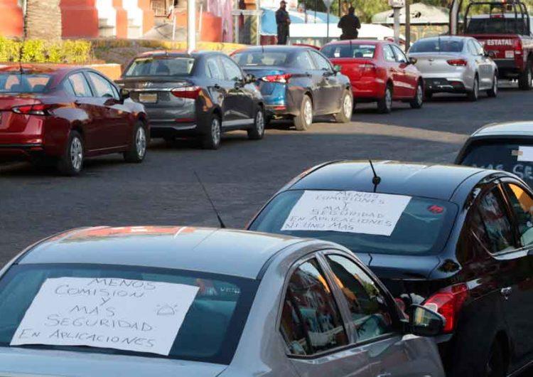 Conductores de UBER, DiDi y Cabify exigen seguridad a autoridades de Puebla