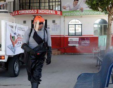 En La Resurrección Puebla rechazan sanitización contra Covid-19