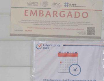 En Puebla, SAT clausura Laboratorios Ruiz