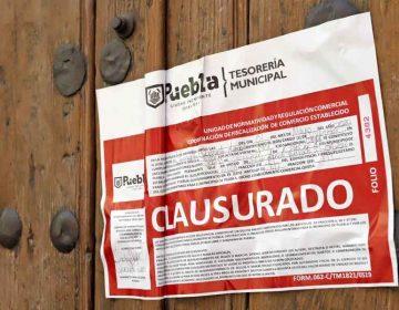 En Puebla clausuran establecimientos por venta y consumo de alcohol
