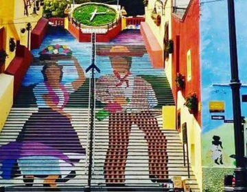 Escaleras de Atlixco se transforman en un mural