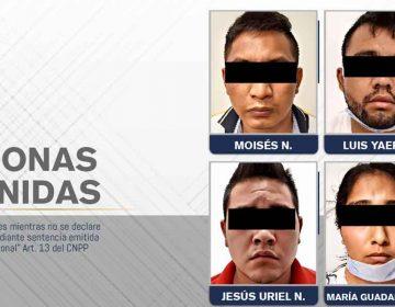 FGE de Puebla rescató a joven secuestrado y detuvo a cuatro personas