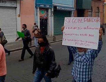 Fotógrafos de eventos sociales se manifiestan; piden apoyos a las autoridades de Puebla