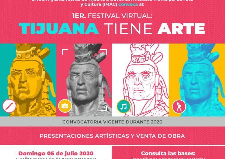 """Invitan a participar en el festival virtual """"Tijuana Tiene Arte"""""""