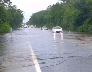 """Campeche bajo el agua por paso de """"Cristóbal"""""""