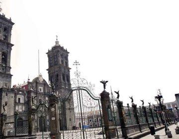 Sismo afecta la Catedral y museos de Puebla