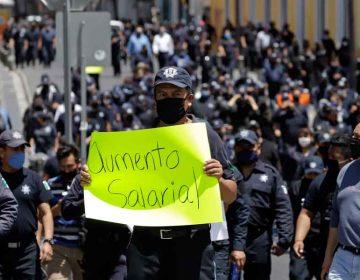 Tras protesta, Gobierno de Puebla otorga 14 % de incremento salarial a policías