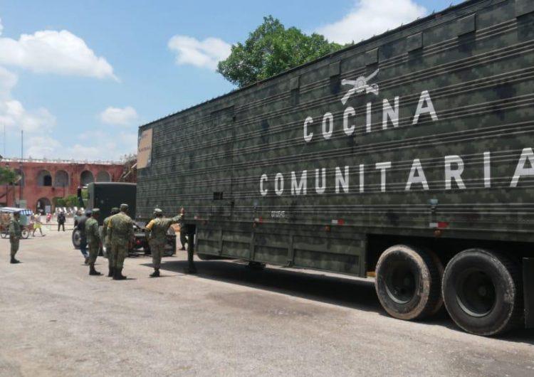 Instala Ejército cocina comunitaria en comunidades dañadas por lluvias