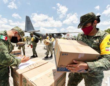 Transporta Ejército más insumos de salud para hospitales militares