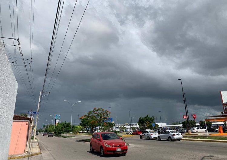 Amenazan lluvias vespertinas a Mérida (video)