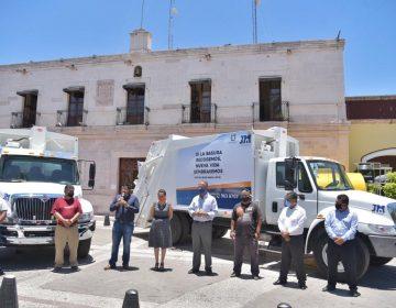 Llegan dos nuevos camiones recolectores de basura a Jesús María
