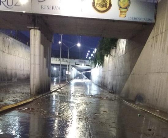 Los estragos de la lluvia de esta madrugada en Aguascalientes