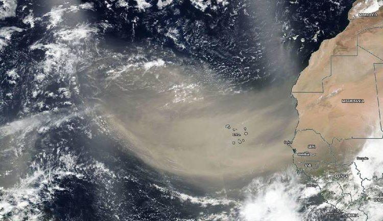 Imágenes: La enorme nube de polvo del Sáhara que llegará a México y varias partes del continente