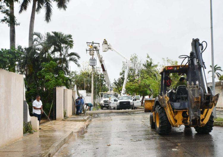 La tormenta tropical Cristóbal, golpea a Campeche dejando daños