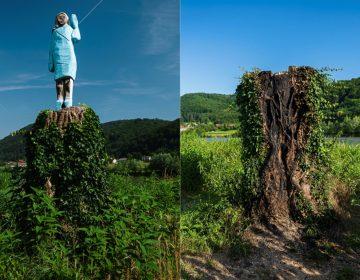 Queman estatua de Melania Trump el Día de la Independencia de EU