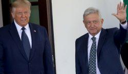 AMLO y Trump inician su primera reunión en la Casa…