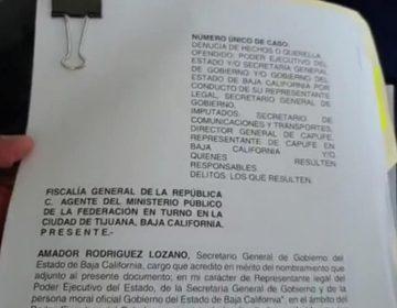 Denuncia gobierno de BC a autoridades federales, tras ser denunciados primero