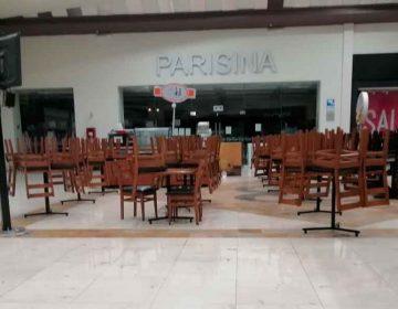 Centros comerciales de Puebla vacíos por covid-19