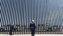 Trump presume avances del muro fronterizo a días de la…