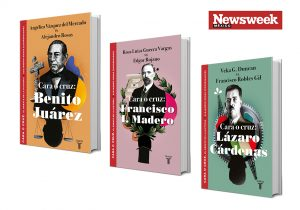 Tres libros que debaten sobre personajes históricos de México