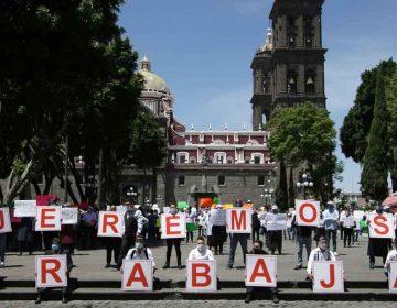 Protestan trabajadores del sector restaurantero; exigen abrir negocios