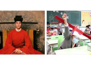 Sombreros de la dinastía Song para mantener el distanciamiento social en China