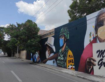 Honran con mural a ciudadanos que laboran pese a COVID