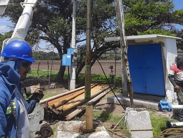 Instalan nueva motobomba en pozo de Milpillas, Jesús María