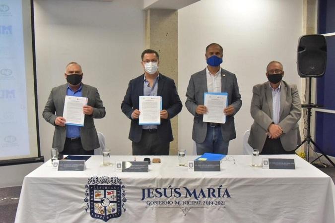 Firma municipio de Jesús María acuerdo de colaboración con NAFIN y CONACCA