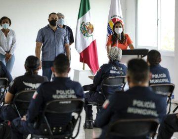 Mandan policías en Cancún para implementar medidas sanitarias vs COVID-19