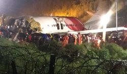 Un avión se sale de la pista y se rompe…