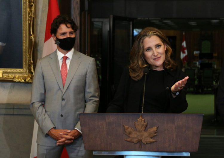 Trudeau designa a Chrystia Freeland como la nueva ministra de finanzas de Canadá