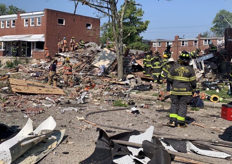 """Una """"gran explosión"""" de gas en Baltimore deja un muerto, heridos y casas afectadas"""