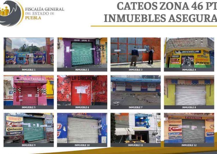 Fiscalía de Puebla aseguró 2 mil 595 autopartes y más de 400 dosis de droga
