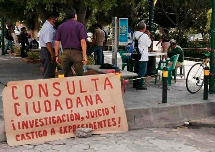 Inicia recolección de firmas en Izúcar para enjuiciar a ex presidentes