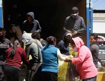 Locatarios de la Central de Abasto regalan kilos de papa