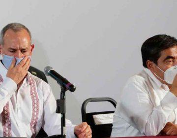 Puebla en Semáforo Rojo; Gatell niega confrontación con Barbosa