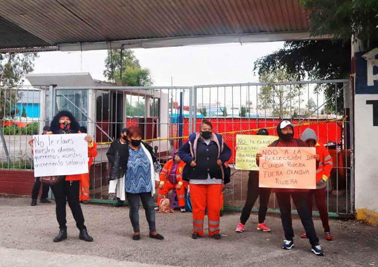 """""""Naranjitas"""" exigen a Claudia Rivera aumento salarial del 4.1% y equipo contra Covid"""