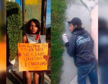 Vecinos amarran a un poste a ladrones de casa-habitación en Atlixco